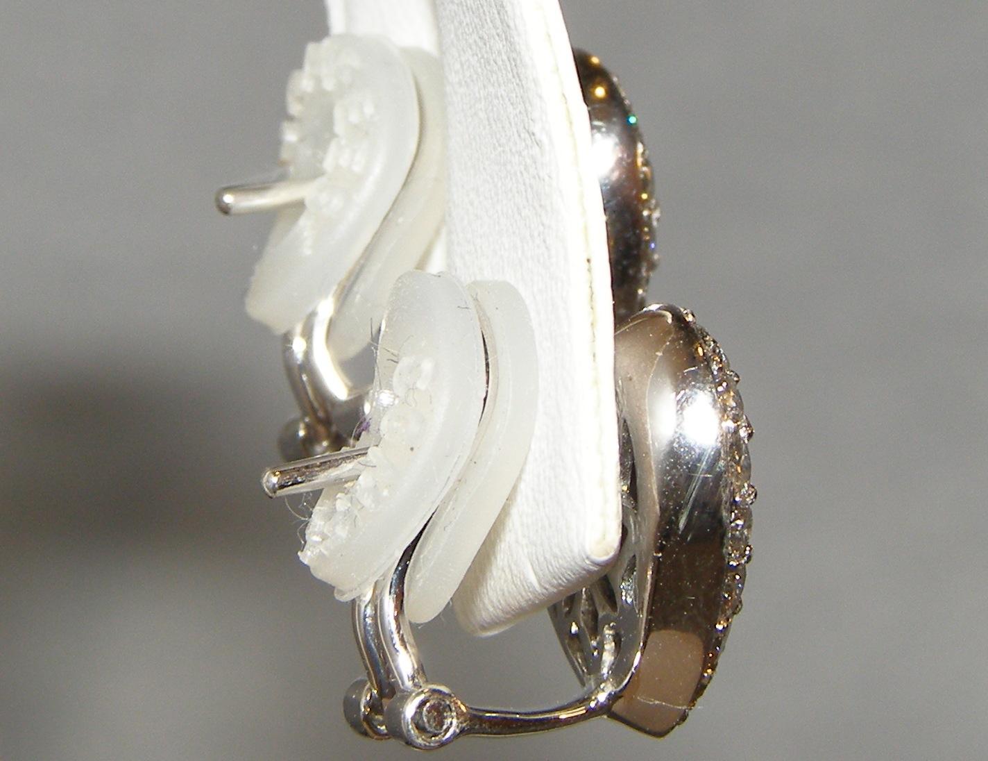 Pave Bright Blue Sapphire Diamond Earrings 18KWG 2.02 ctw