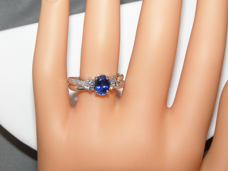 Sapphire Diamond Platinum Ring 1.93 ctw