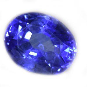 "GII Certified Burma Oval ""Old Mine""  Blue Sapphire 2.97 Carats 8.66x6.89x5.22mm"