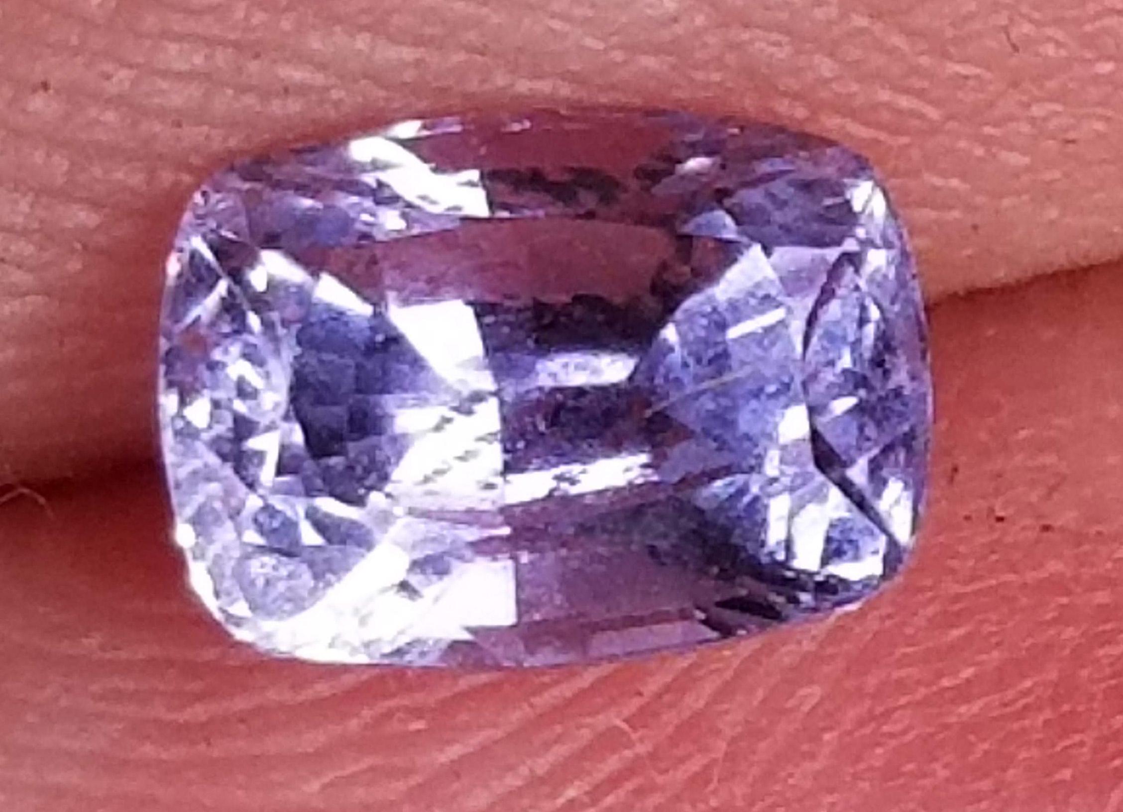 Ceylon Cushion Cut Violet Sapphire - 1.39 cts - 6.6x4.9mm