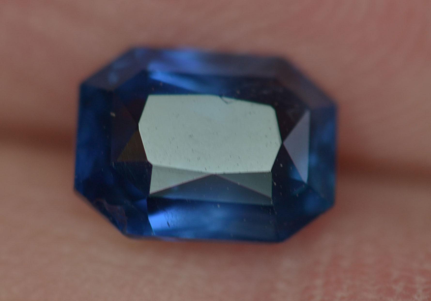 CGL Certified Unheated Blue Emerald Cut Sapphire 2.16 C8.22x6.17x4.32mm