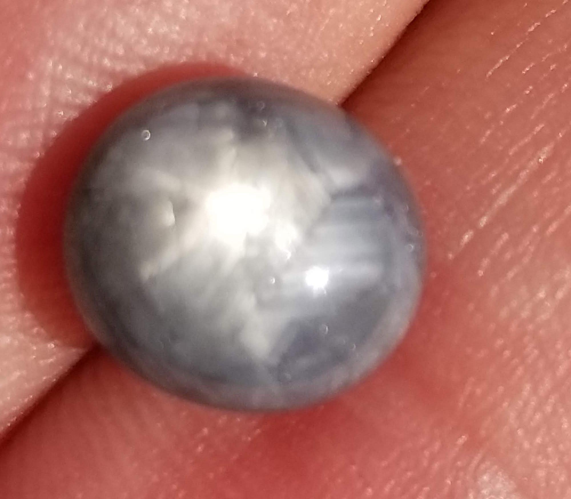 Burma Blue Gray Star Sapphire 4.35 carats 9.2x8.4x6mm