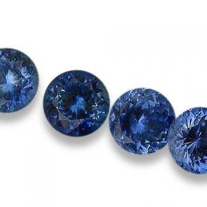 Ceylon Blue Round Brilliant Sapphire 4mm 0.33 cts