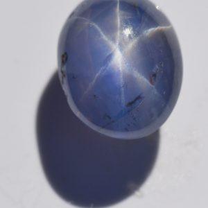 CGL Certified Ceylon Blue Star Sapphire 7.38 Carats 11.14x8.58x7.25mm