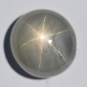AGL Certified  Blue Gray Star Sapphire 78 carats 23.4x22.2x12.6mm