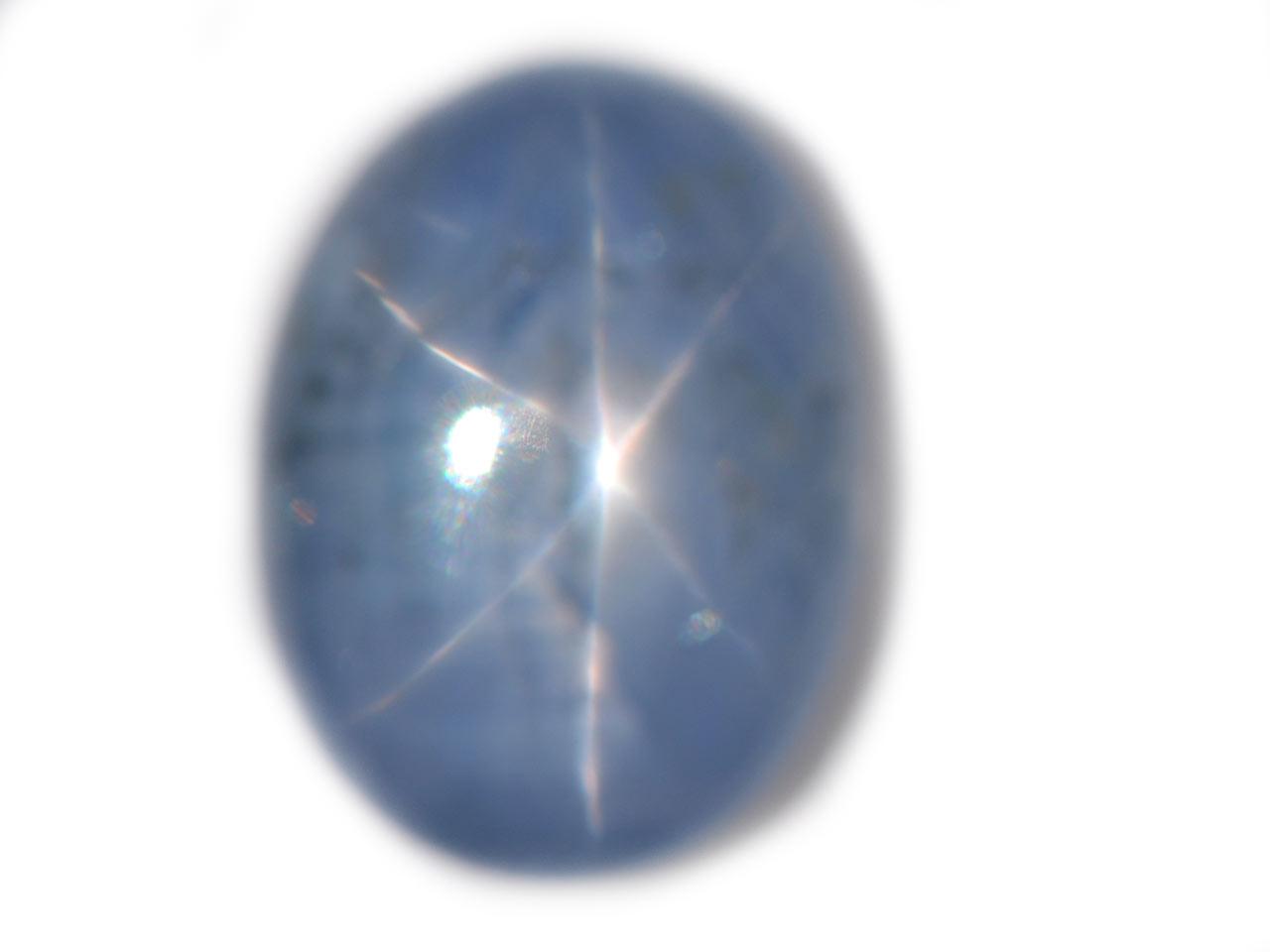 Burma Blue Star Sapphire - 12.22 cts - 16x12x6mm