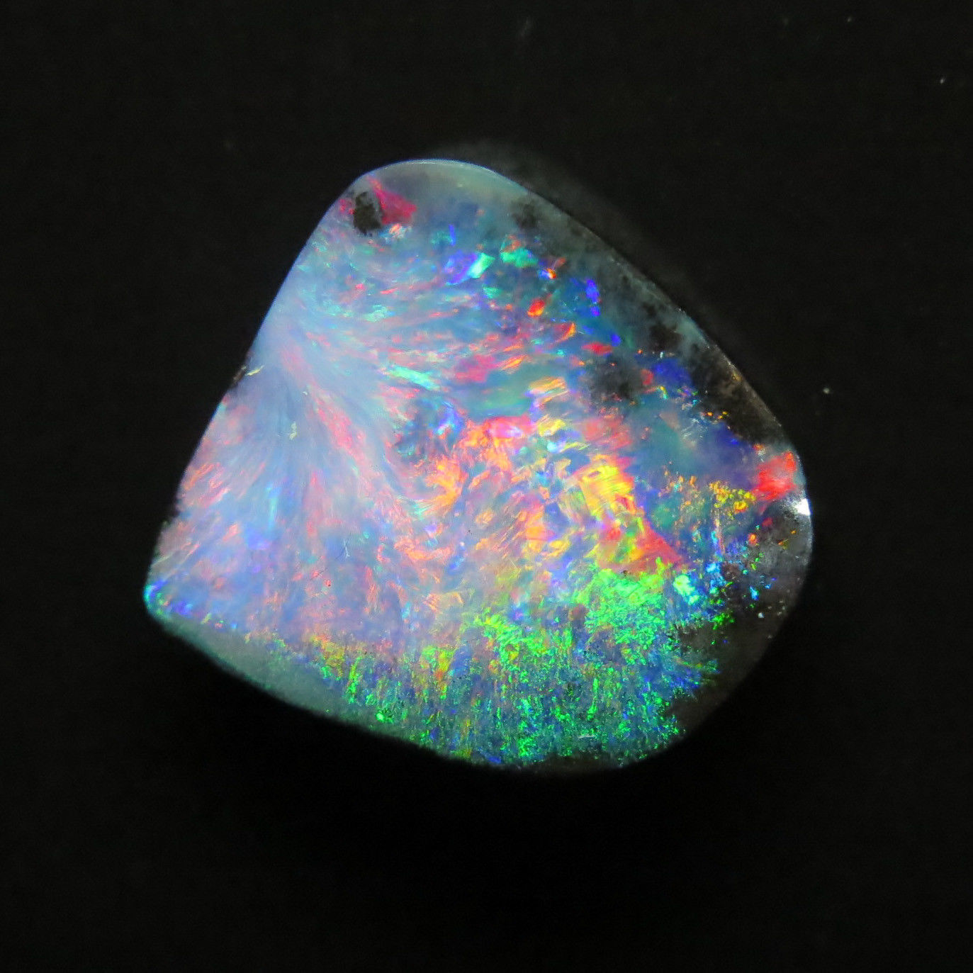 Solid Queensland Boulder Opal 7.2 Carats 14x14mm set in 14KYG Pendant