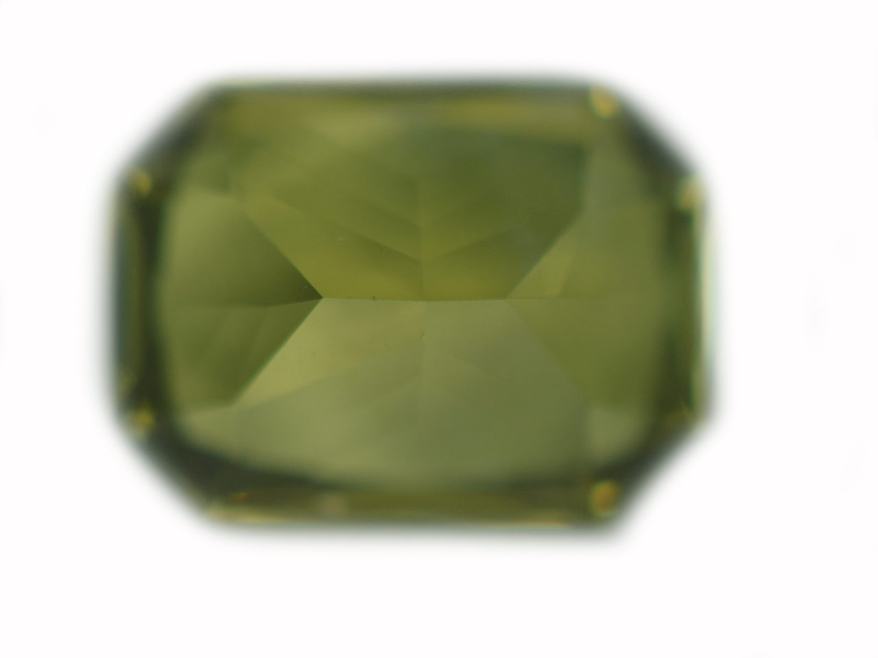 Ceylon Emerald Radiant Cut Chrysoberyl 1.83 carats 8x6x4.2mm