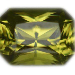 Ceylon Emerald Radiant Cut Chrysoberyl 1.41 carats 7.4x5.5x4mm