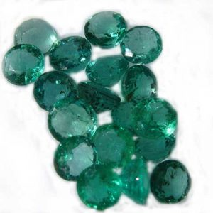 Green Colombian Emerald Round 4.5mm ~.2cts each