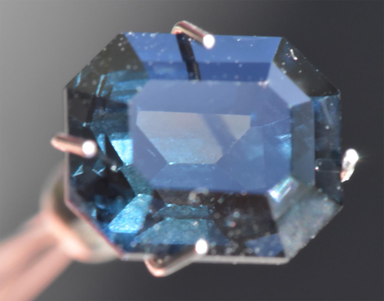 CGL Certified Unheated Emerald Cut Green to Purple Color Change Emerald Cut Sapphire 3.01 carats