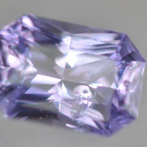 Sri Lanka Lavender Radiant Emerald Cut Sapphire 1.24 Carats 7.3x5.1x3.5mm