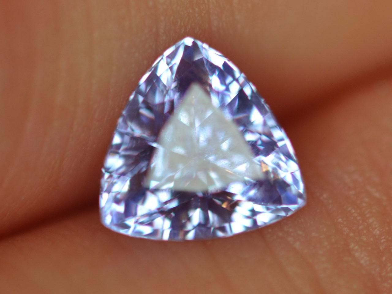 Lavender Trilliant Cut Ceylon Sapphire 1.45 cts 7x7mm