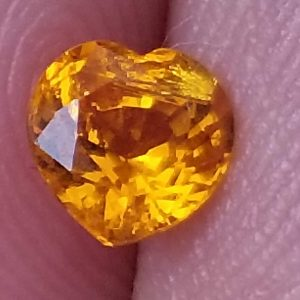 Orange Heart Shaped Sapphire 0.67 Carats