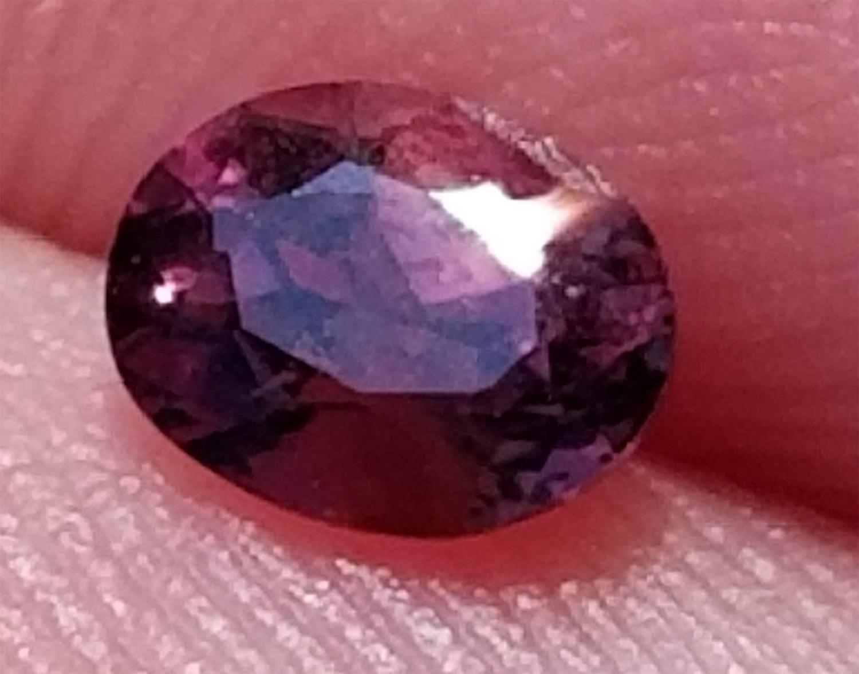 AGTA Certified Unheated Purple Orange Sapphire 0.53Cts