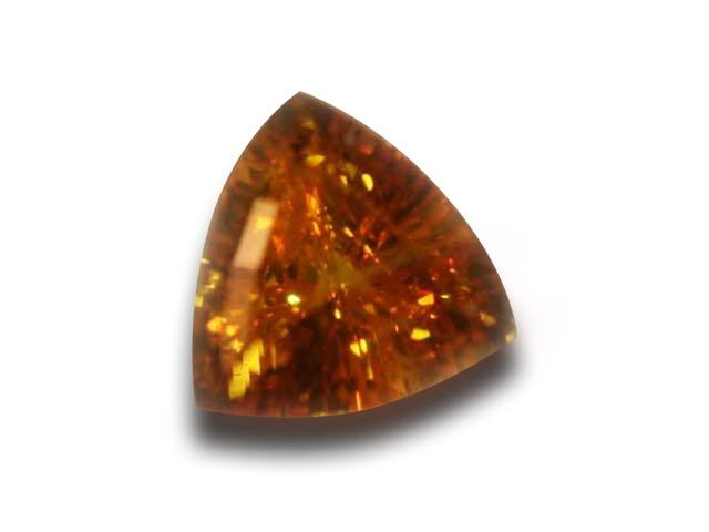 Ceylon Orange Yellow Sapphire Trilliant 6x6mm 1.27 cts special
