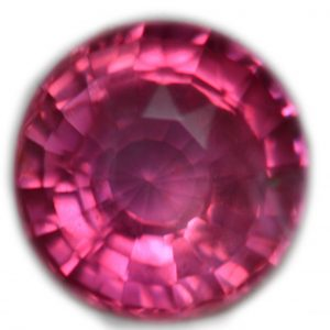 GIC Certified Round Unheated Padparadscha Sapphire 1.14 carats 6.0mm