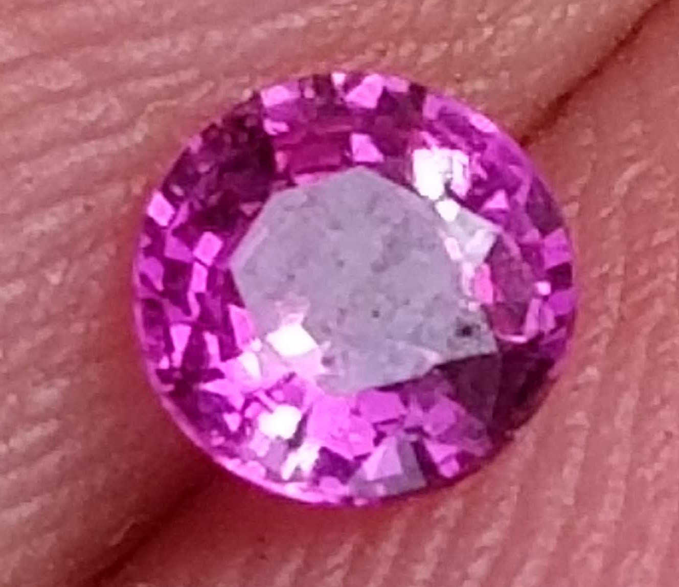 Madagascar Pink Sapphire Round 3.9mm .28 Carats Free USPS Ship