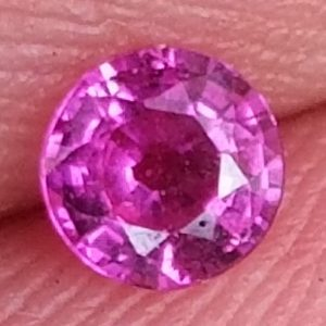 Madagascar Pink Sapphire Round 3.9mm .28 Carats Free USPS Ship