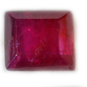 Unheated Indian Ruby Rectangle 0.68 carats 4.9x4.4x2.4mm