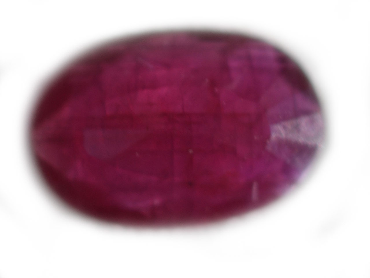 Unheated Indian Ruby Oval 0.69 carats 7.2x5.0x1.9mm