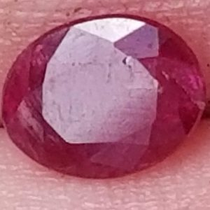 Unheated Indian Ruby Oval 0.83 carats 7.3x5.8x2mm