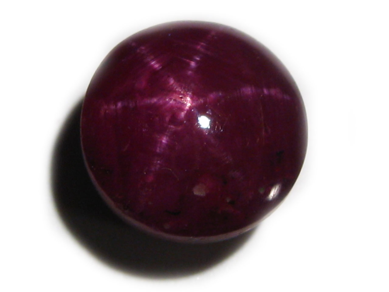 GIA Certified Indian Unheated Star Ruby  Round 7.07 carats 9.55x9.50 x6.60 mm