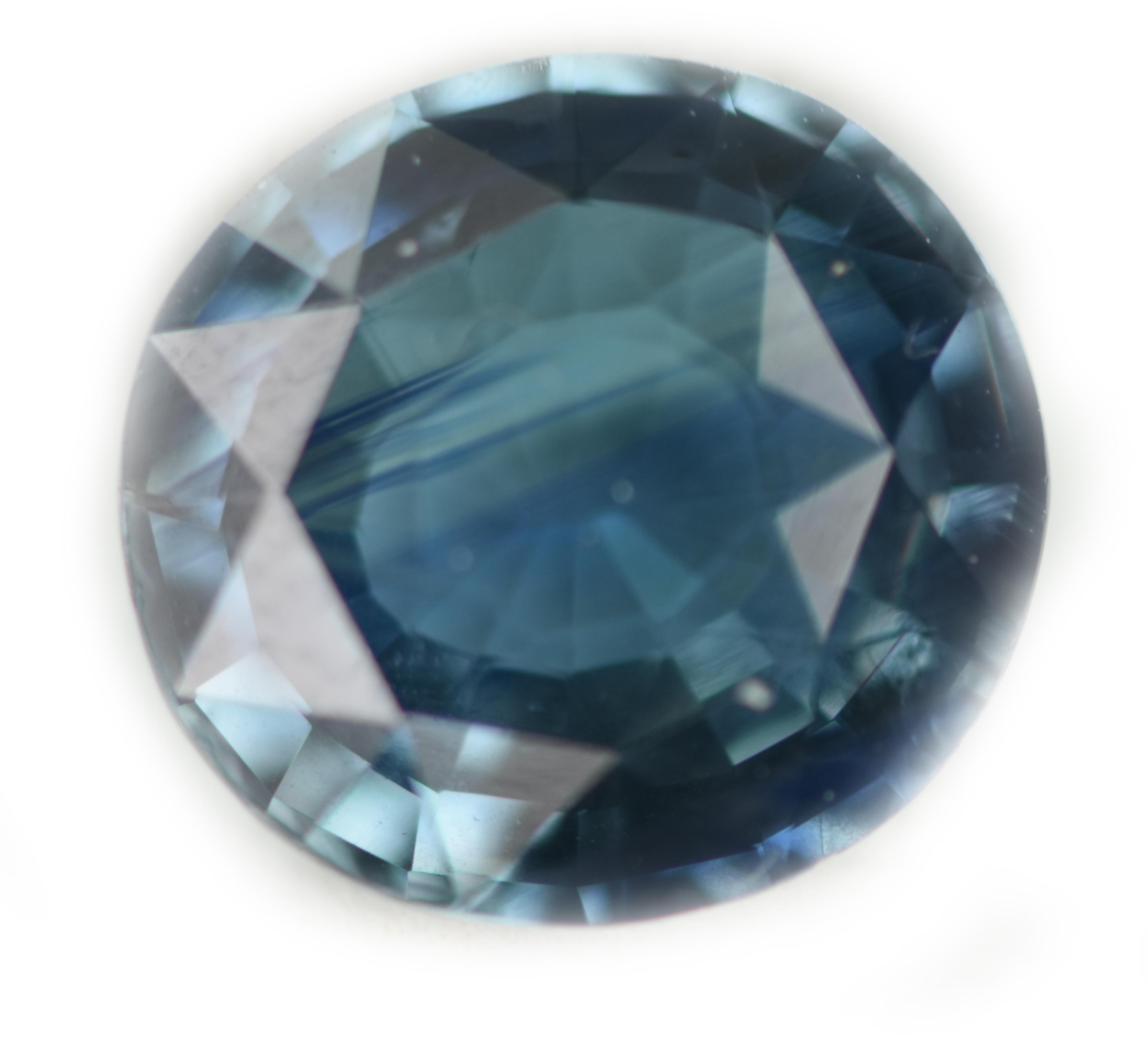 RGL Certified Teal Blue Oval Sapphire 3.77 Carats 10.0x9.3x4.6mm