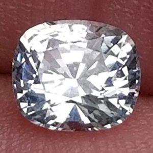 Ceylon White Cushion Cut Sapphire - 1.21 Cts - 6.4x5.6x4mm