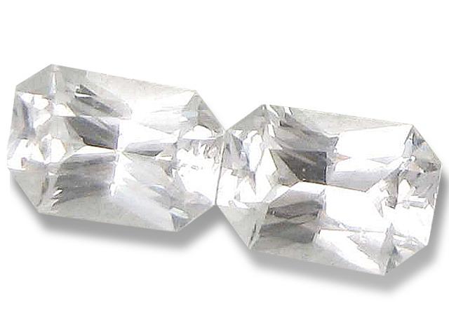 Ceylon Emerald Cut White Sapphire - 0.9 - 1.0 Cts - 6.5x4.5mm