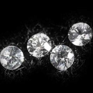 Ceylon White Round Brilliant Sapphire -  2.5mm  - ~1.0 CTW
