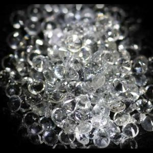 White Round Brilliant Ceylon Sapphire - 2.3mm - Lot of 16.8 cts