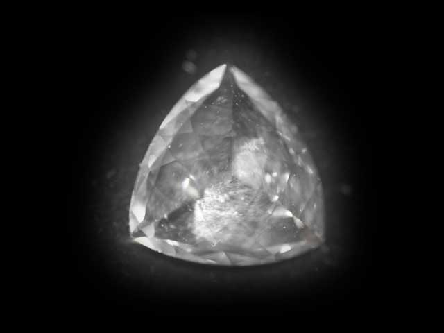 Ceylon Sapphire - white - trilliant - 7mm - 1.21cts