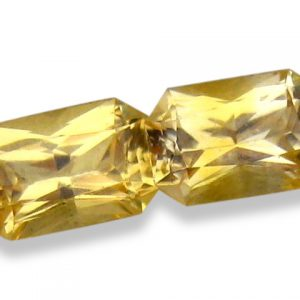 Ceylon Yellow Emerald Cut Sapphire Pair 6x4mm  1.30 cts special