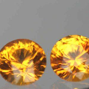 Ceylon Yellow Sapphire Round Pair 4.5mm ~.89cts