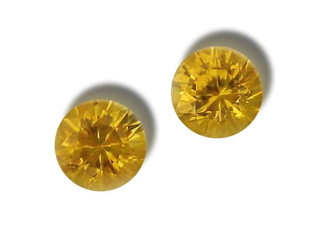 Ceylon Yellow Sapphire Round Matched Pair 5.0mm 1.20 cts
