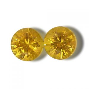 Ceylon Yellow Sapphire Round Matched Pair 5.0mm 1.20 cts